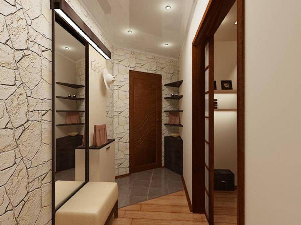Узкий коридор хрущевка дизайн фото