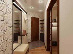 Светлые оттенки стен и потолка в дизайне прихожей