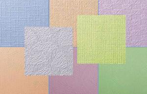 Разнообразные оттенки и текстура стеклообоев