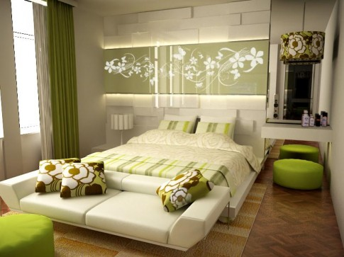 Для маленькой комнаты цвет стен