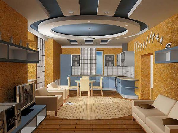Комбинированные потолки – секрет успеха