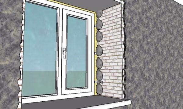 Комки цементного раствора для приклеивания направляющего