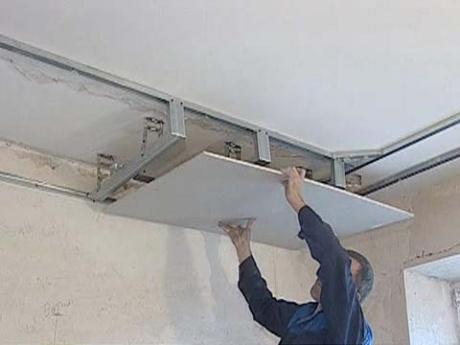 Каркас потолка из профиля под гипсокартон своими руками фото 588