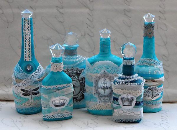 Креативный подход к украшению бутылок может позволить со временем превратить интересное хобби в стабильный заработок
