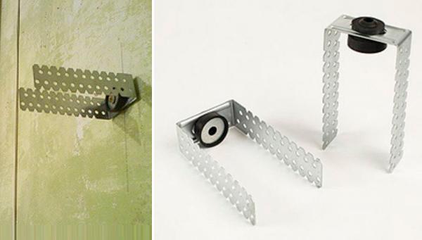 Кронштейн фирмы Knauf можно использовать для крепления брусьев к стене.