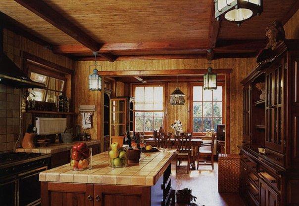Интерьер кухни в стиле классика