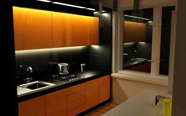 Кухня 6 кв м с колонкой дизайн