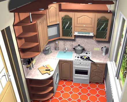 Кухня 6 метров дизайн своими руками