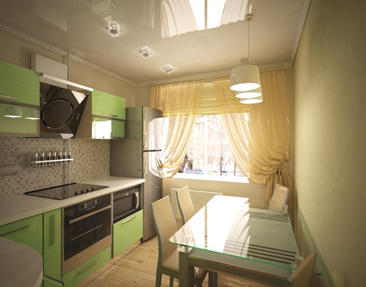Дизайн кухни 15 м2