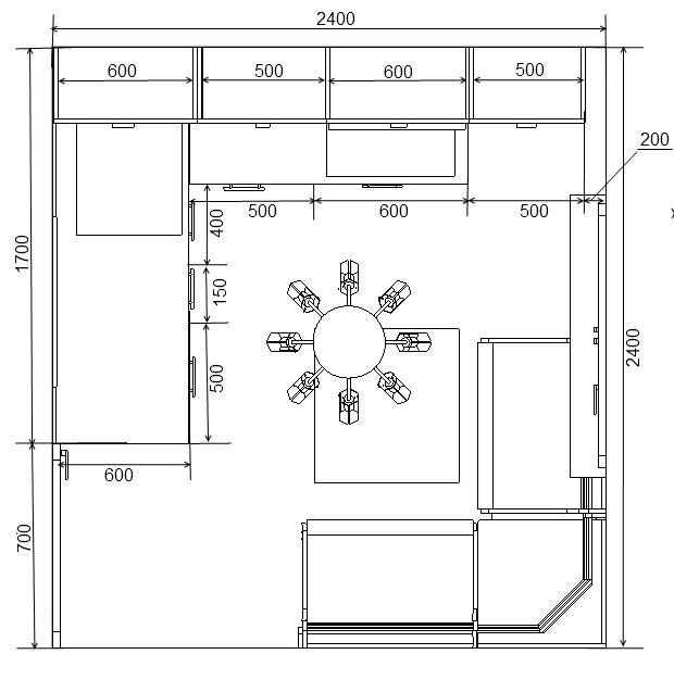 Кухни дизайн чертежи 74