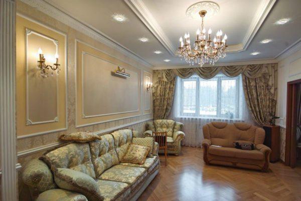 Лепнина подчеркнет классический стиль в отделке помещения.