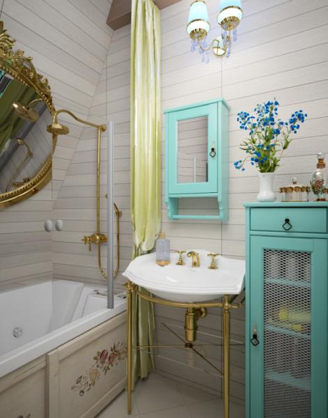 Маленькая ванна в стиле прованс