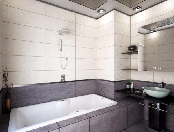 Минимализм подразумевает минимум деталей в интерьере — отличное решение для маленькой ванной