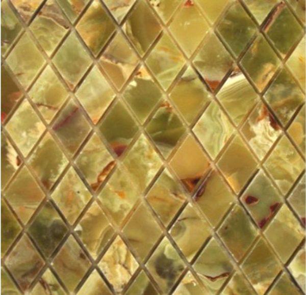 Мозаика из оникса — дорогой, красивый и элитный облицовочный материал.