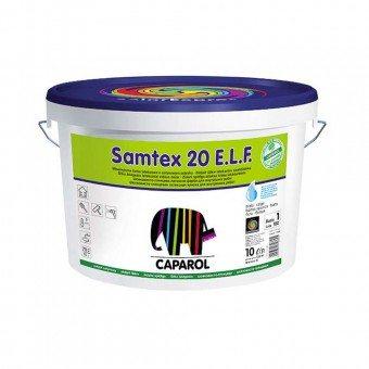 На фото Samtex 20 — моющаяся атмосферостойкая краска от немецкого производителя Caparol