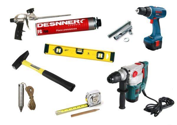 Набор инструментов для выполнения монтажа