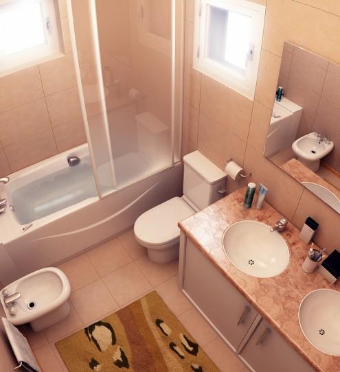 небольшая ванная комната дизайн