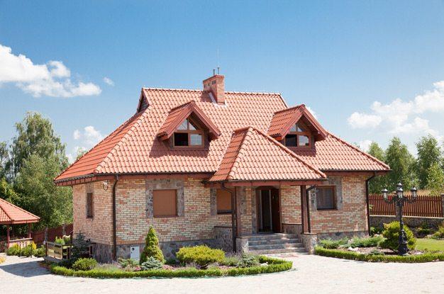 крыши одноэтажных домов частных домов фото