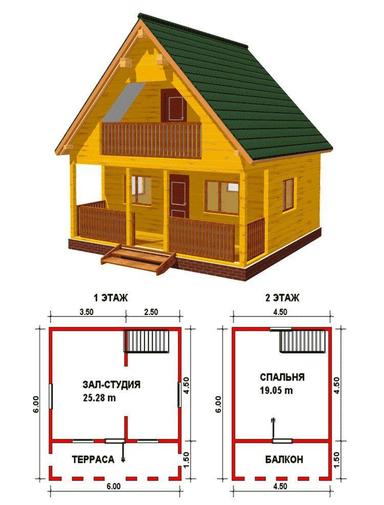 Проект дачного домика своими руками 6 на 5 м с мансардой