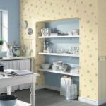 Ниша с полками в дизайне кухни