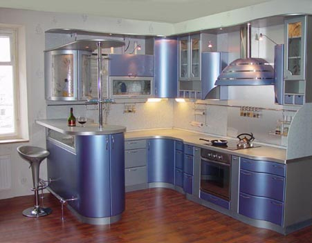 оранжевая кухня интерьер