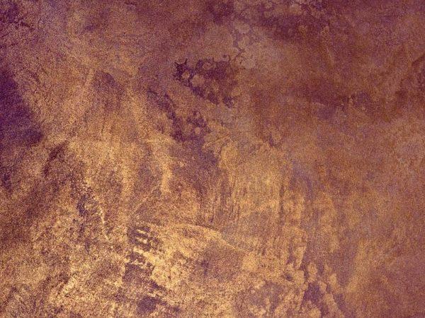 Оштукатуренная поверхность после тонировки металликом и полировки