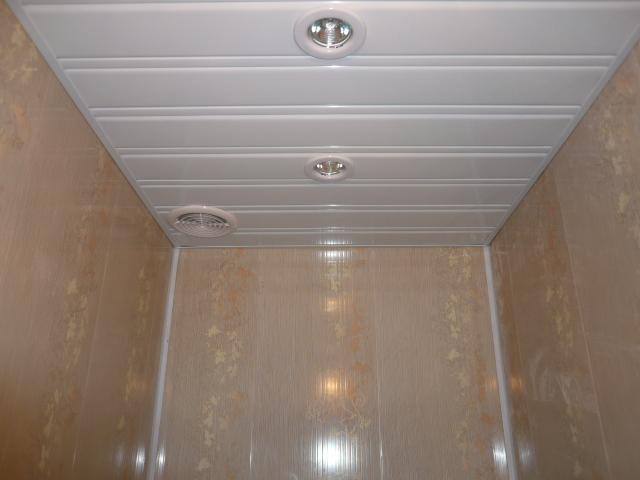 Как сделать реечный потолок в ванной видео фото 499