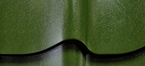 Пластизол придает металлочерепице своеобразную текстуру