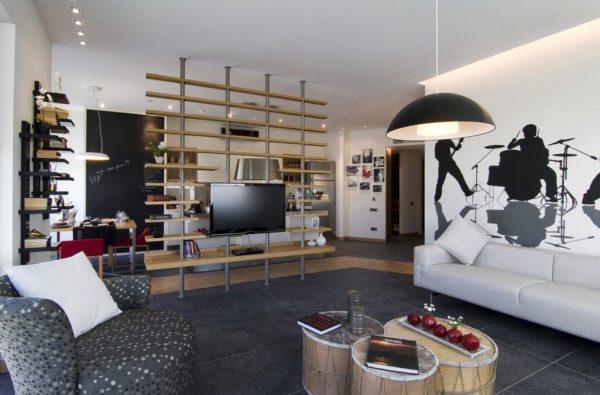 Shelf Trennwand Für Zoning Kann Auch Verwendet Werden, Um Den TV Zu  Installieren
