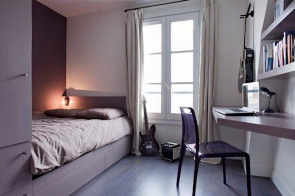 Полуторная кровать для спальни в стиле современный минимализм.