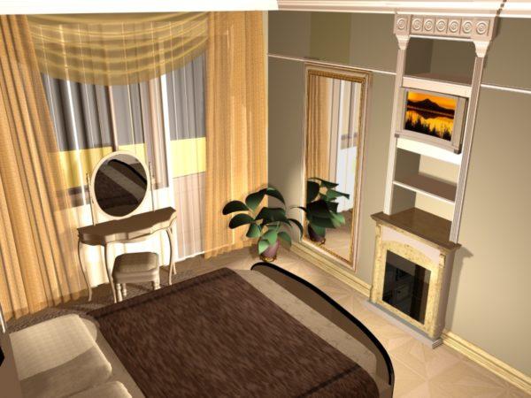 Попытка обустроить спальню в классическом античном стиле.