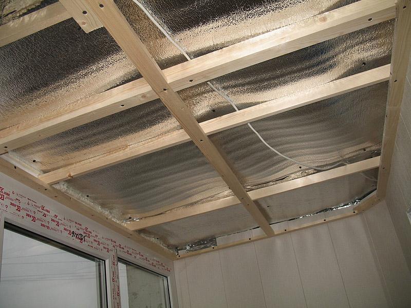 Утепление крыши балкона изнутри своими руками