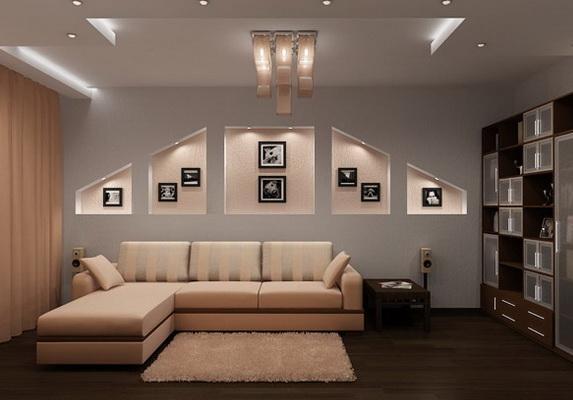 Потрясающие симметричные ниши с подсветкой под фотографии