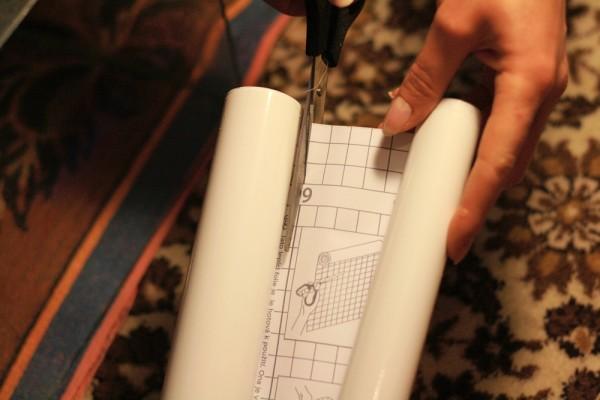 При раскрое удобно ориентироваться на размерную сетку