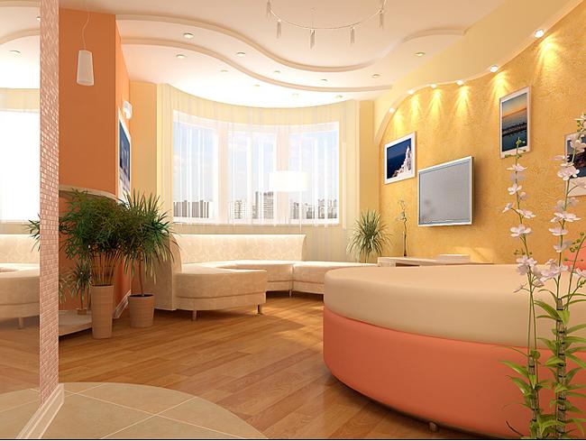 пример дизайна квартиры-студии в светлых тонах