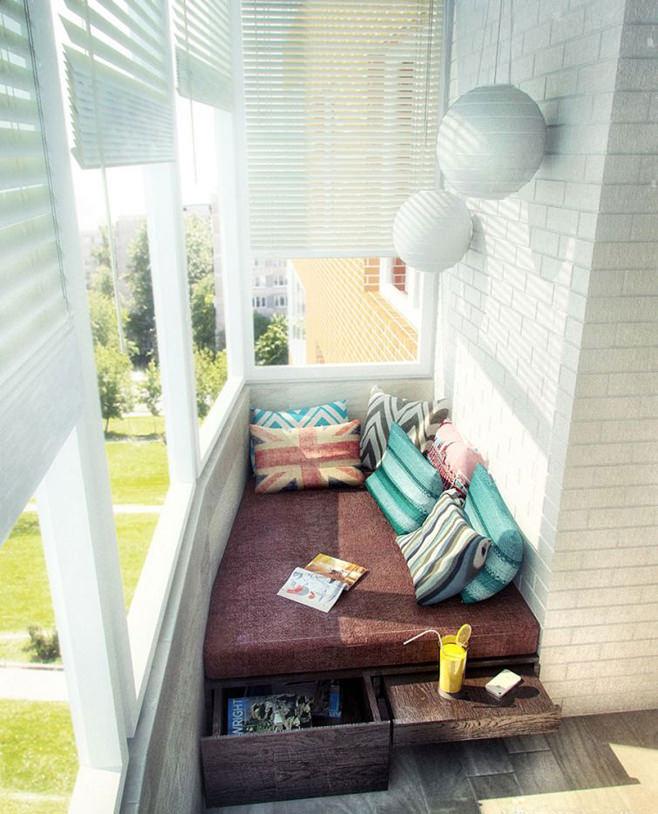 Диван на балкон своими руками