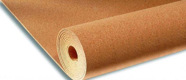 Пробка – экологичный материал, хорошо подходящий в качестве основы под линолеум