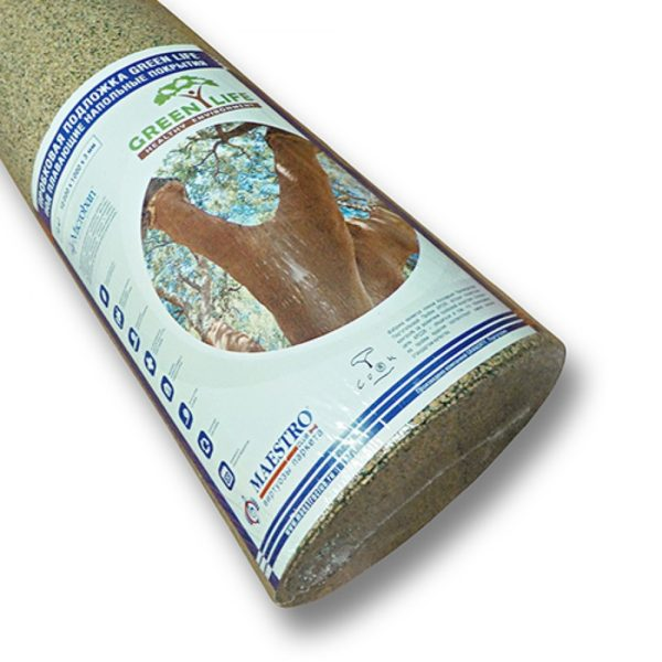 Пробковая подложка выпускается в рулонах по 10 квадратных метров