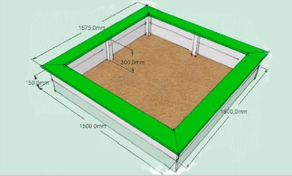 Проект должен содержат размеры и все основные детали конструкции