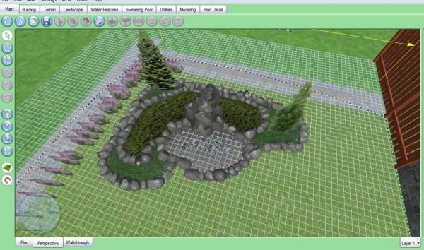 Проектирование горки в программе для ландшафтного дизайна