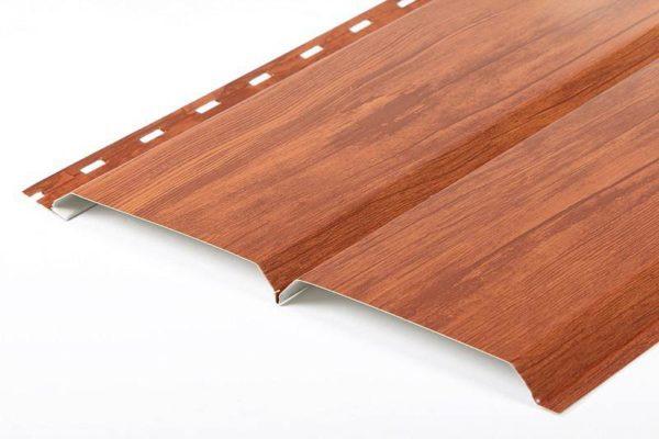 Профиль металлических панелей может имитировать брус
