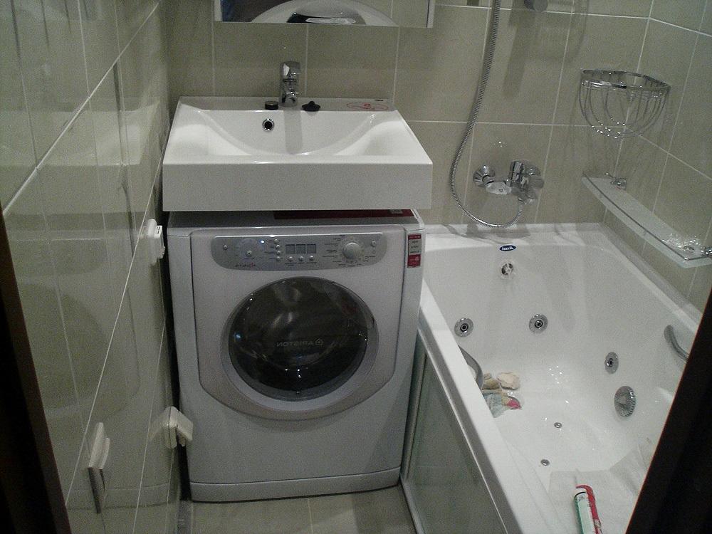 Раковина над стиральной машиной фото интересного интерьера