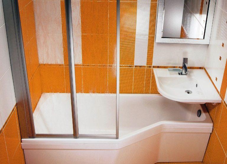 Дизайн ванна с душевой кабиной
