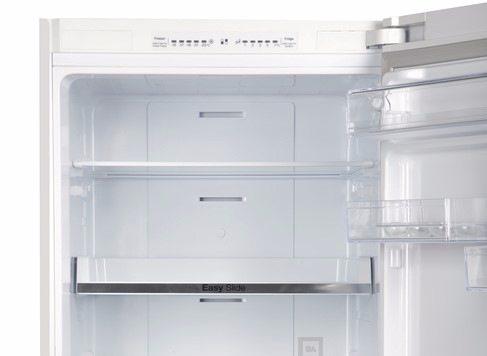 Расположенный в верхней части дисплей позволяет точно настраивать температуру в холодильнике