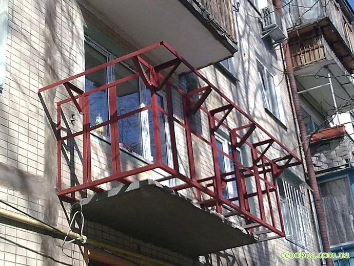Как сделать каркас для балкона в хрущевке