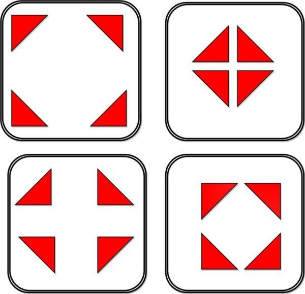 Схема использования угловых узоров