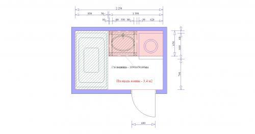 Схема сооружения.