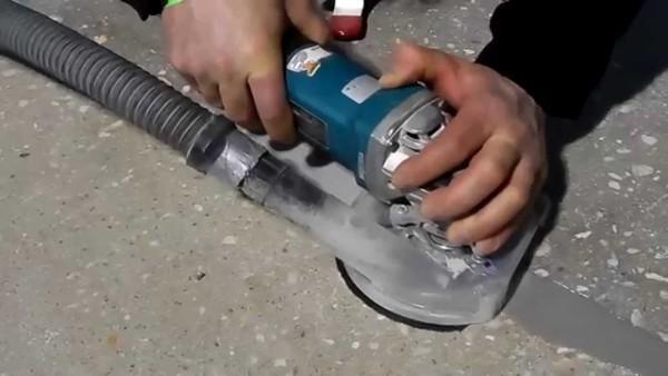 Шлифовка бетонной поверхности с помощью УШМ своими руками