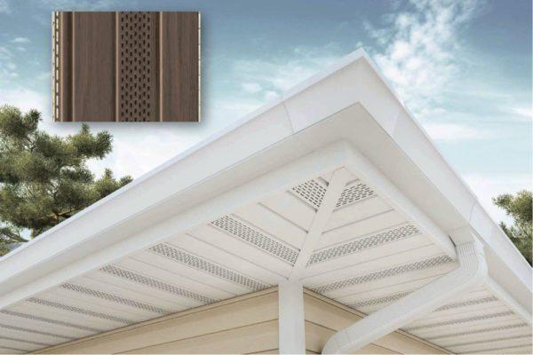 Софиты для крыши не только защищают свесы от влаги, но и придают им привлекательный вид