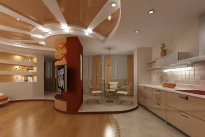 современный дизайн однокомнатной квартиры